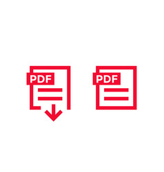 pdf document download pdf file icons vector image