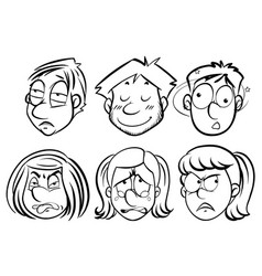 people with different facail expressions vector image vector image