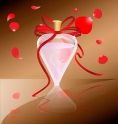 perfume and petals vector image