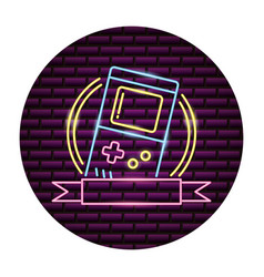 portable console video game neon vector image
