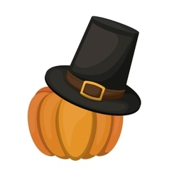 Pumpkin and hat of thanksgiving vector