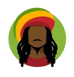 Rastafarian man vector