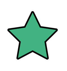 rating star symbol and element status vector image