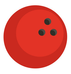 red marbled bowling ball icon isolated vector image