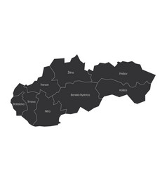 Regions slovakia map regional country vector