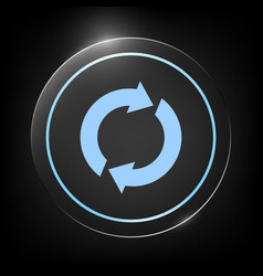 Reset button reload arrows vector