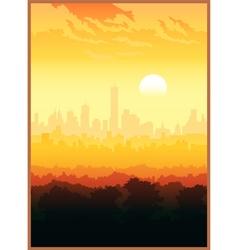 scenic view city vector image