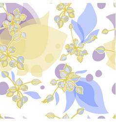 Seamless pattern with graphic nature elements vector