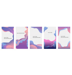 set four abstract pink through blue backgrounds vector image
