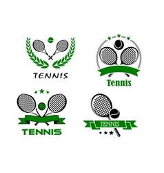 Set of Tennis badges or emblems vector image