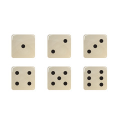 Set of white dice vector