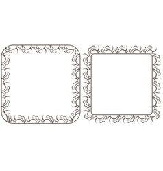 Set openwork frame for design vector image