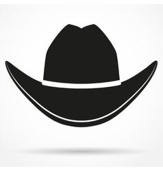 Silhouette symbol of cowboy hat vector
