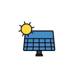 Solar panel flat icon sign symbol vector
