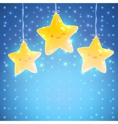 Star background Good night vector image