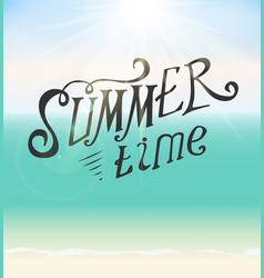 Summer time seaside background vector