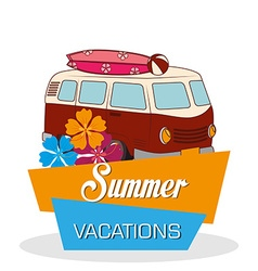summer vacations vector image