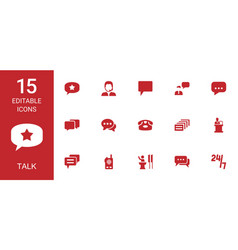 talk icons vector image