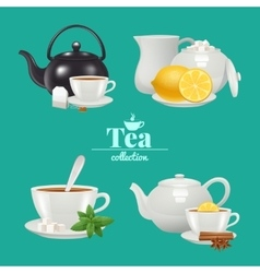 Tea design set vector