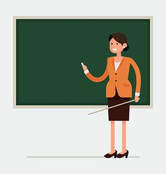 Teacher in a Classroom with a Blackboard vector image