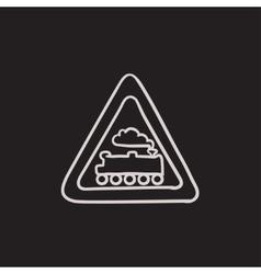 Train sign sketch icon vector image