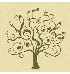 Tree with curly twigs vector
