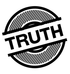truth black stamp vector image