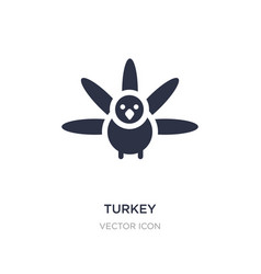 Turkey icon on white background simple element vector