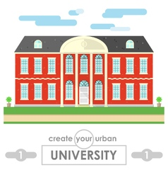University building flat design vector