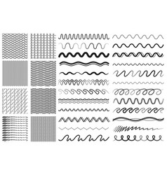 wave lines drawing line dividers or decorative vector image