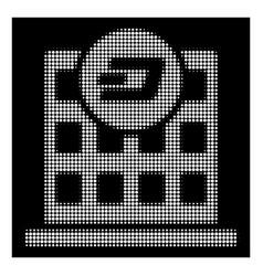 white halftone dash company building icon vector image