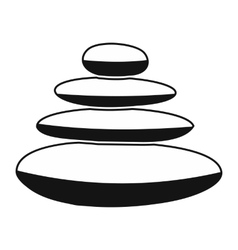 Zen basalt stones black simple icon vector