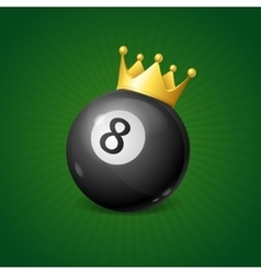 Billiards Concept with Golden Crown vector image vector image