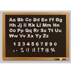 hand-drawn chalk alphabet vector image vector image