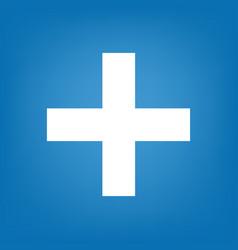 medicine icon blue simple vector image