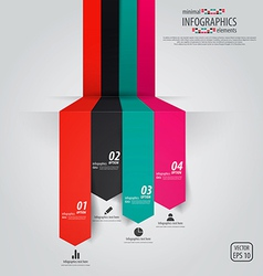 Minimal infographics design vector