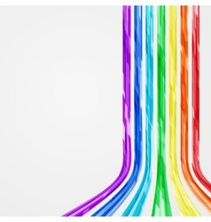 Abstract Rainbow Lines Background vector image