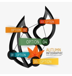 Autumn option infographic banner minimal design vector image vector image