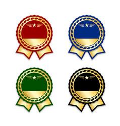 award ribbon the best set vector image vector image