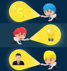 Character Flashlight Search Business Icon vector image vector image