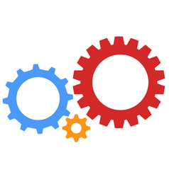gear icon gear wheels pictograms isolated gear vector image