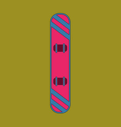 icon in flat design snowboard vector image