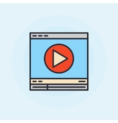 Video player flat icon vector image