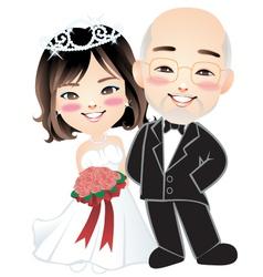 wedding 002 vector image