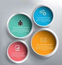 Abstract 3D circle infographics design vector image