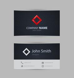 clean dark modern business card vector image vector image