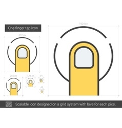 One-finger tap line icon vector image