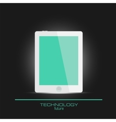 Realistic tablet with empty screen vector image