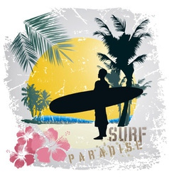 surf paradise vector image vector image