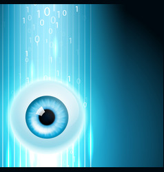 abstract background with eye vector image vector image